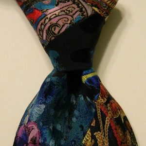 BRIONI Silk Necktie Italy QUILTED PATCHWORK Rare